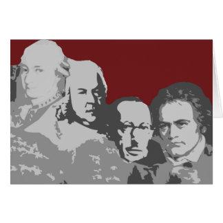 作曲家の挨拶状のラシュモア山 カード