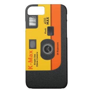 使い捨て可能なカメラ- I6オレンジ iPhone 8/7ケース