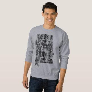 使用されたアラバマの州の白人の地図のALの人のTシャツ スウェットシャツ