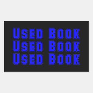 使用された本のステッカー 長方形シール