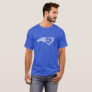 使用されたI愛ノースカロライナの州の人のTシャツ Tシャツ