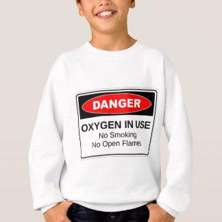 使用中の危険の酸素 スウェットシャツ