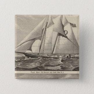 例えば水先船の騎士およびWhilldin 5.1cm 正方形バッジ