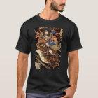 侍と化け蛙、国芳の武士および巨大なカエル、Kuniyoshi、Ukiyo Tシャツ