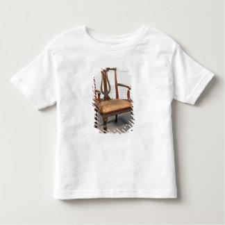 供給される切り分けられたリラの椅子 トドラーTシャツ