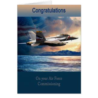 依託している卒業の空軍F 18 カード