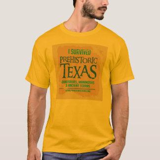 価値有史以前のテキサス州の道のTシャツ Tシャツ