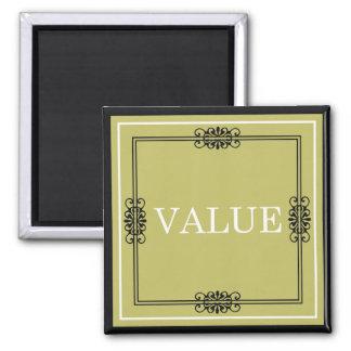 価値-刺激のための1つのワードの引用文 マグネット