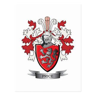 価格の家紋の紋章付き外衣 ポストカード