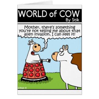 侵入された牛 グリーティングカード