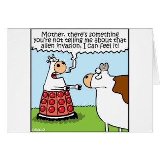 侵入される牛 グリーティングカード