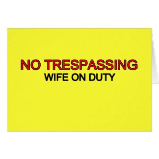 侵入無し-勤務中の妻 グリーティングカード