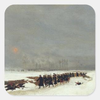 侵略への方法の歩兵のコラム スクエアシール
