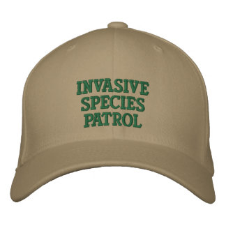 侵略的な種のパトロールの野球帽 刺繍入りキャップ