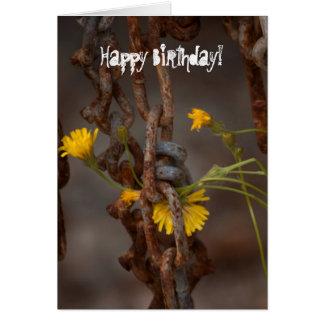 侵略的な花; ハッピーバースデー カード