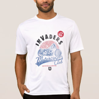侵略者のオートバイクラブ、サウスダコタの男性ティー Tシャツ