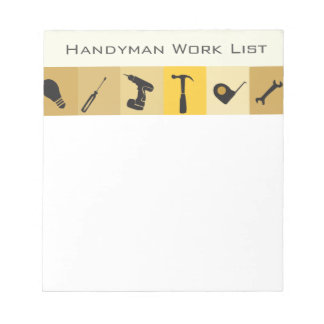 便利屋の建築のBuildernの蜂蜜はリストします ノートパッド