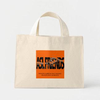 促進するべきASLの友人のトート-カスタマイズ ミニトートバッグ