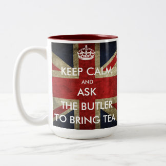 保ち、平静を茶を持って来るために頼みますカスタマイズ ツートーンマグカップ
