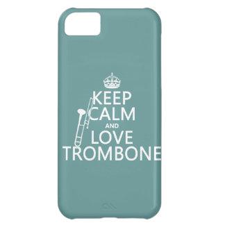 保って下さい平静および愛トロンボーン(どの背景色でも)を iPhone5Cケース