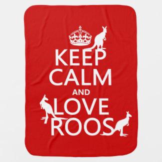 保って下さい平静および愛Roos (カンガルー)を ベビー ブランケット