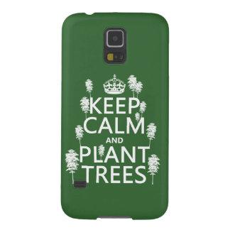 保って下さい平静および植物の木(すべての色)を GALAXY S5 ケース