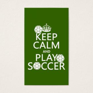 保って下さい穏やかなおよび演劇のサッカー(どの色でも) 名刺
