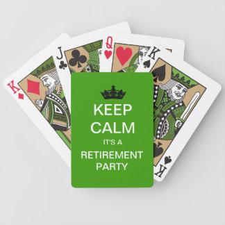 保って下さい穏やかな退職パーティーのトランプ(緑)を バイスクルトランプ