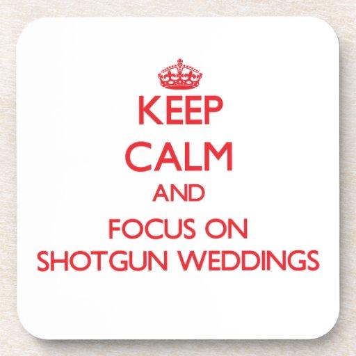保って下さい|平静|焦点|散弾銃|結婚式 ドリンクコースター
