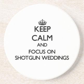 保って下さい|平静|焦点|散弾銃|結婚式 敷物