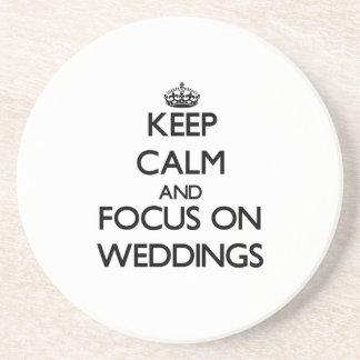 保って下さい|平静|焦点|結婚式 コースター