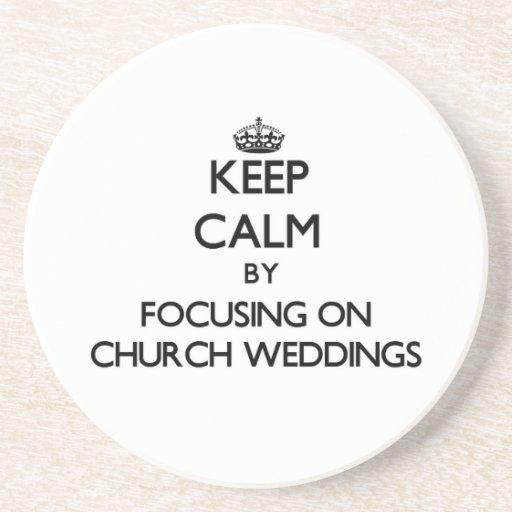 保って下さい|平静|集中|教会|結婚式 ドリンク用コースター