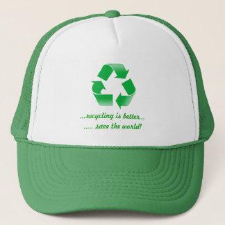 保存をリサイクルすることを世界の緑の帽子の帽子リサイクルして下さい キャップ
