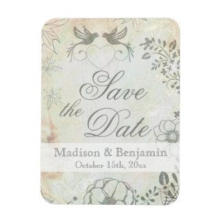 保存を結婚しているヴィンテージ愛鳥日付の磁石 マグネット