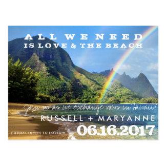 保存を結婚するハワイ諸島日付の郵便はがき ポストカード