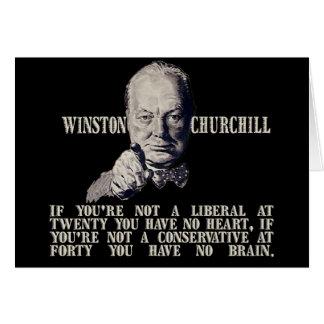 保守主義者および自由主義者のChurchill カード