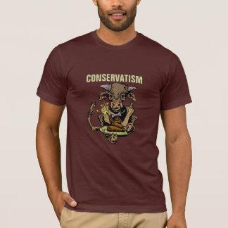 保守主義: 牛肥料のBullのサービングの夕食 Tシャツ