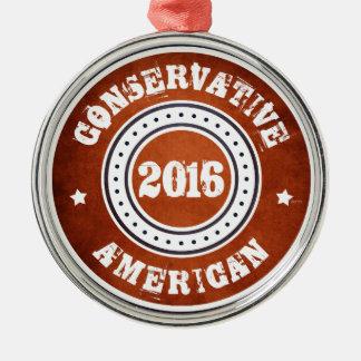 保守的なアメリカ人 メタルオーナメント