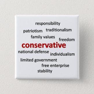 保守的な哲学および価値 5.1CM 正方形バッジ