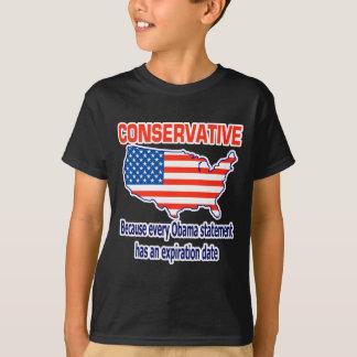 保守的-反オバマ Tシャツ