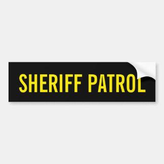 保安官のパトロール-金黄色いロゴの紋章 バンパーステッカー