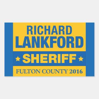 保安官の光沢のあるステッカーのためのリチャードLankford 長方形シール