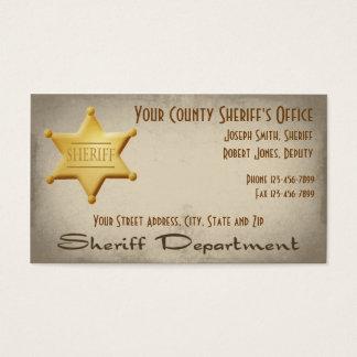 保安官の名刺 名刺