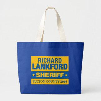 保安官の役人の戦闘状況表示板のためのリチャードLankford ラージトートバッグ