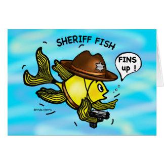 保安官の魚-おもしろいでかわいく活発な漫画 カード