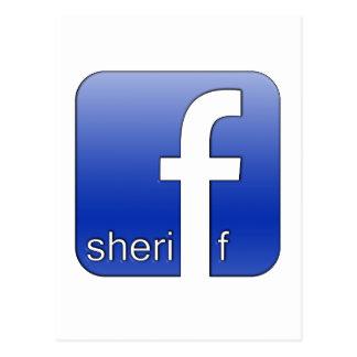 保安官のFacebookのロゴのユニークなギフトの人気があるなテンプレート ポストカード