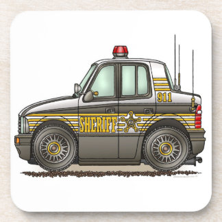 保安官車のパトカー コースター