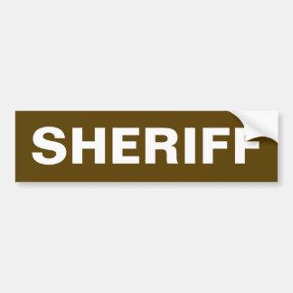 保安官-白いロゴのバンパーステッカー バンパーステッカー