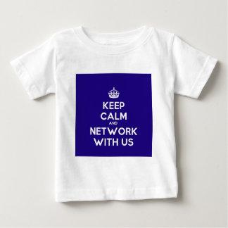 保穏やかおよびネットワークと私達 ベビーTシャツ