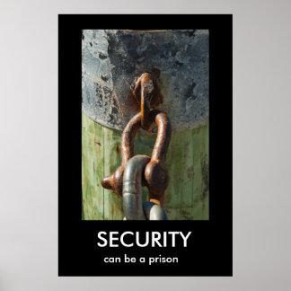 保証は、刑務所のDemotivationalポスターである場合もあります ポスター